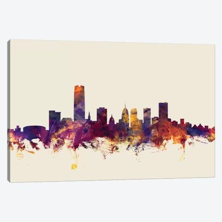 Oklahoma City, Oklahoma, USA On Beige Canvas Print #MTO370} by Michael Tompsett Art Print