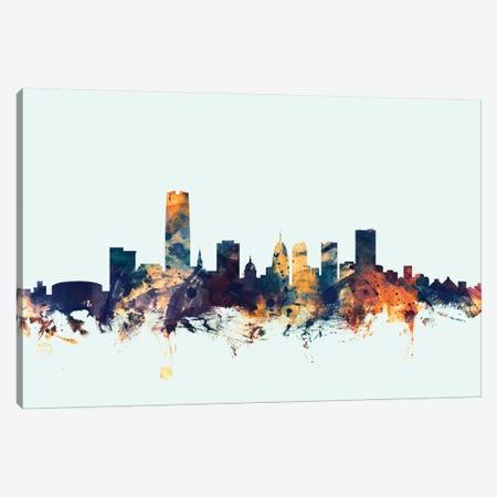 Oklahoma City, Oklahoma, USA On Blue Canvas Print #MTO371} by Michael Tompsett Art Print