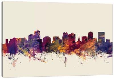 Skyline Series: Orlando, Florida, USA On Beige Canvas Print #MTO372