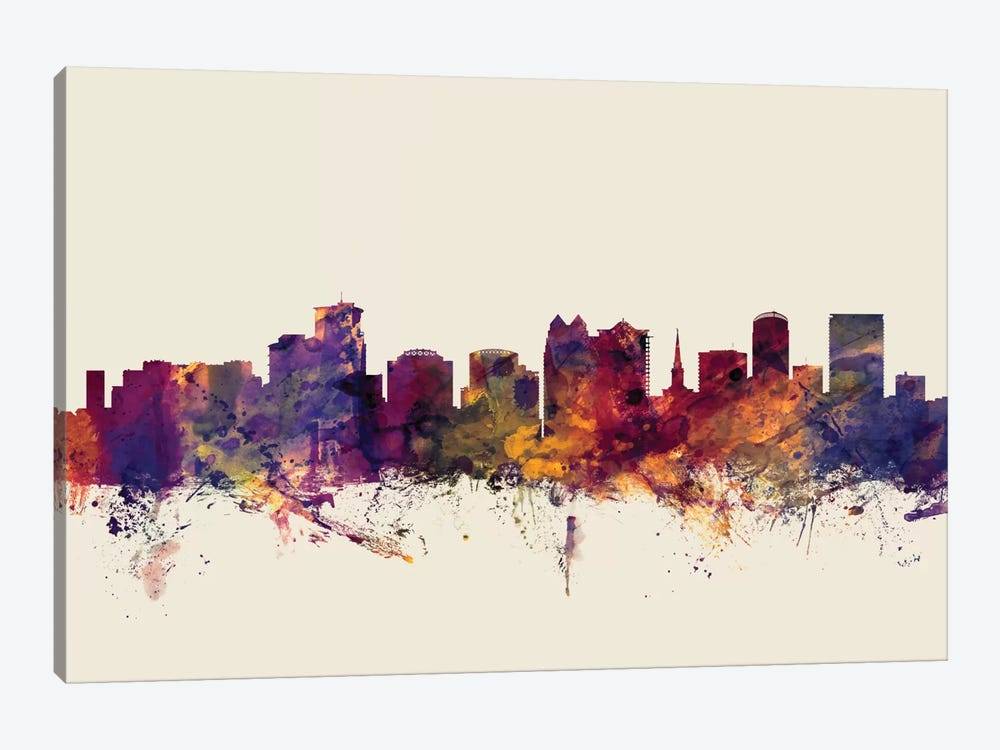 Orlando, Florida, USA On Beige by Michael Tompsett 1-piece Canvas Art