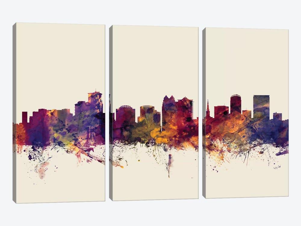 Orlando, Florida, USA On Beige by Michael Tompsett 3-piece Canvas Art