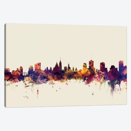 Ottawa, Canada On Beige Canvas Print #MTO374} by Michael Tompsett Canvas Art