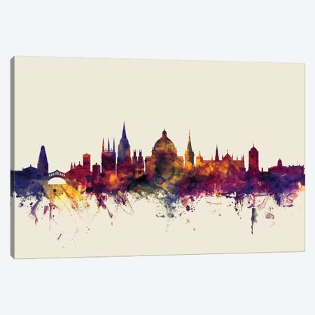 Oxford, England, United Kingdom On Beige Canvas Print #MTO376} by Michael Tompsett Canvas Art