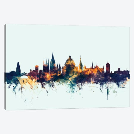 Oxford, England, United Kingdom On Blue Canvas Print #MTO377} by Michael Tompsett Canvas Artwork