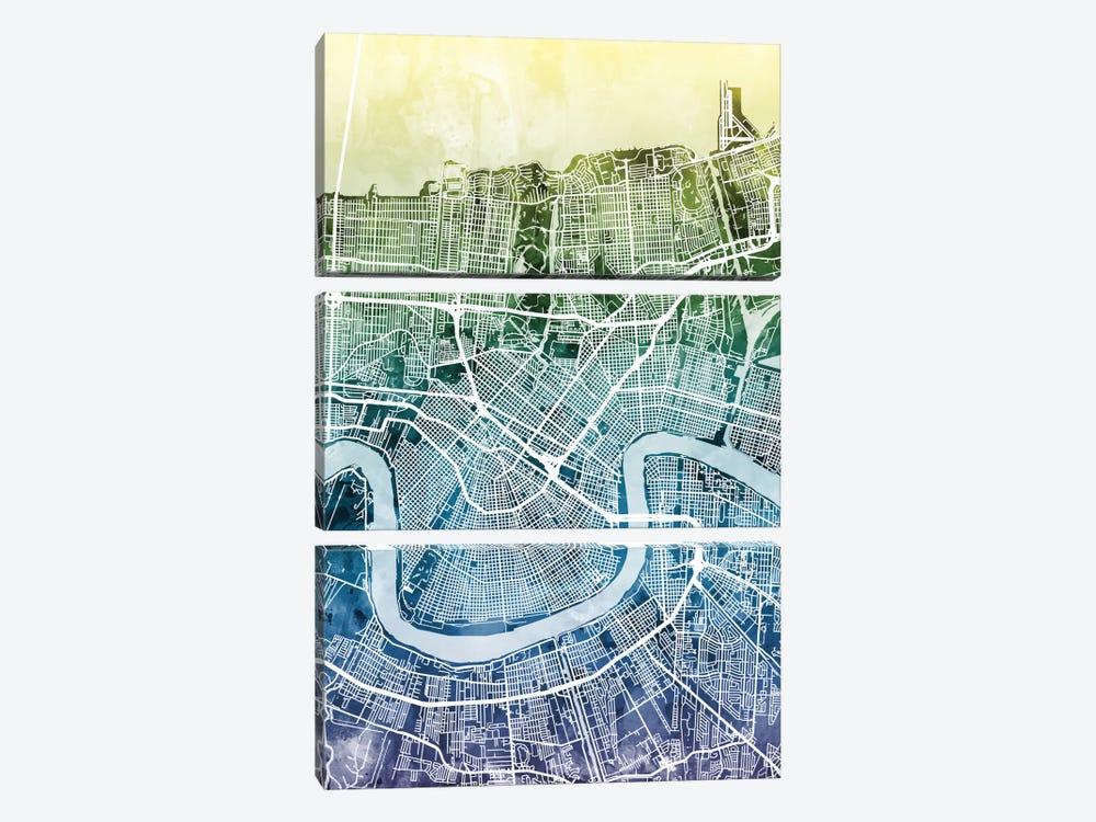 New Orleans, Louisiana, USA by Michael Tompsett 3-piece Canvas Art Print