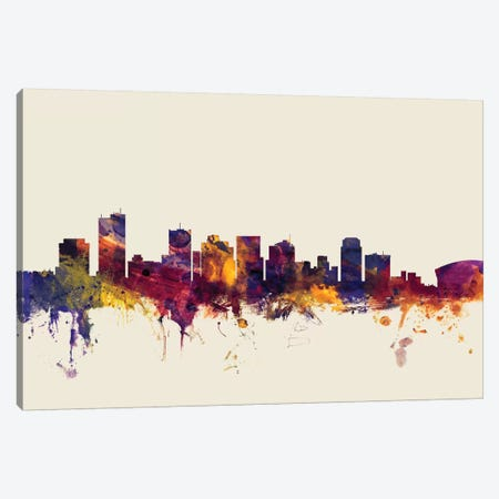 Phoenix, Arizona, USA On Beige Canvas Print #MTO384} by Michael Tompsett Canvas Print