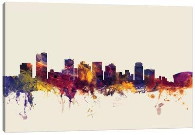 Phoenix, Arizona, USA On Beige Canvas Art Print