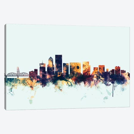 Portland, Oregon, USA On Blue Canvas Print #MTO389} by Michael Tompsett Canvas Art
