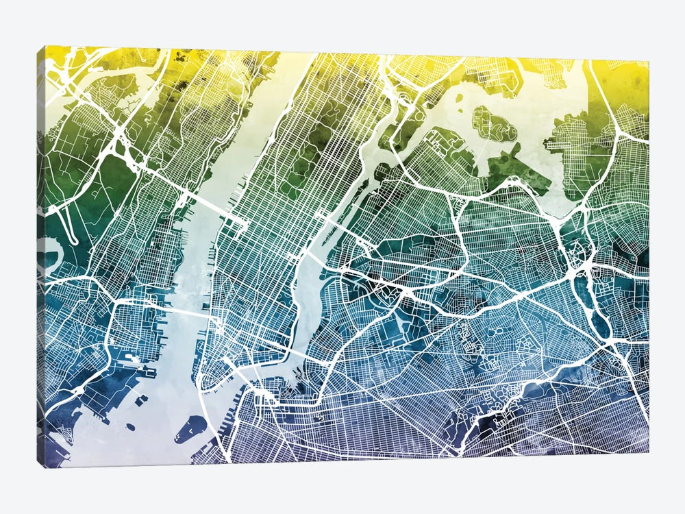 New York City, New York, USA I by Michael Tompsett 1-piece Canvas Wall Art