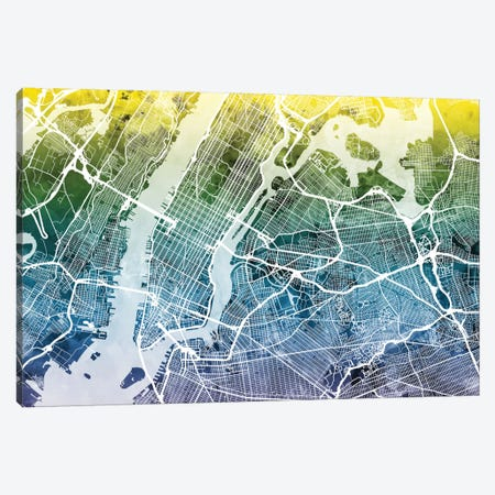 New York City, New York, USA I Canvas Print #MTO38} by Michael Tompsett Canvas Art