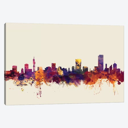 Pretoria, South Africa On Beige Canvas Print #MTO394} by Michael Tompsett Canvas Artwork