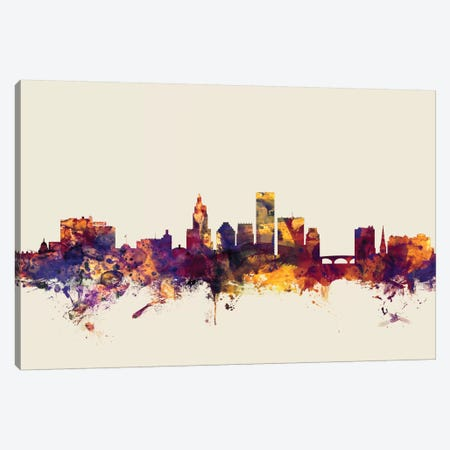 Providence, Rhode Island, USA On Beige Canvas Print #MTO396} by Michael Tompsett Canvas Art