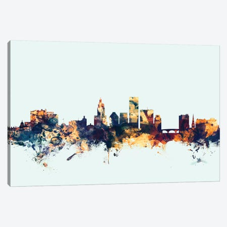 Providence, Rhode Island, USA On Blue Canvas Print #MTO397} by Michael Tompsett Canvas Art