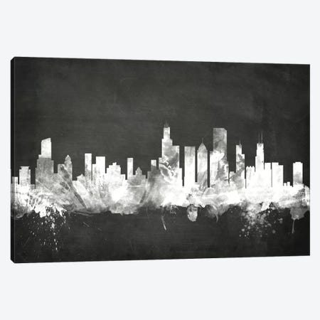 Chicago, Illinois, USA Canvas Print #MTO3} by Michael Tompsett Art Print