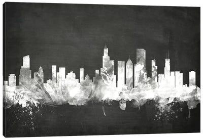 Blackboard Skyline Series: Chicago, Illinois, USA Canvas Print #MTO3
