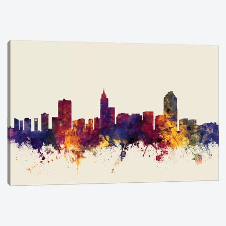 Raleigh, North Carolina, USA On Beige Canvas Print #MTO400} by Michael Tompsett Canvas Art Print