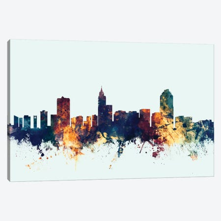 Raleigh, North Carolina, USA On Blue Canvas Print #MTO401} by Michael Tompsett Canvas Print