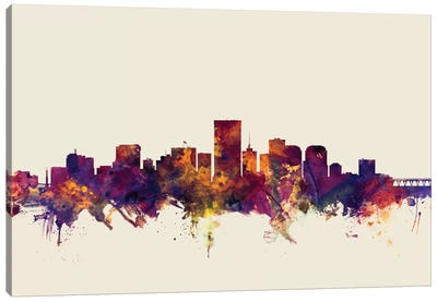 Richmond, Virginia, USA On Beige Canvas Art Print