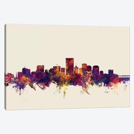 Richmond, Virginia, USA On Beige Canvas Print #MTO402} by Michael Tompsett Canvas Art Print