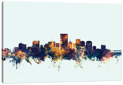 Richmond, Virginia, USA On Blue Canvas Art Print