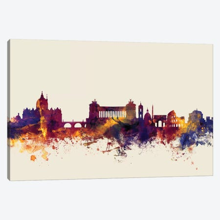 Rome, Italy On Beige Canvas Print #MTO404} by Michael Tompsett Canvas Artwork