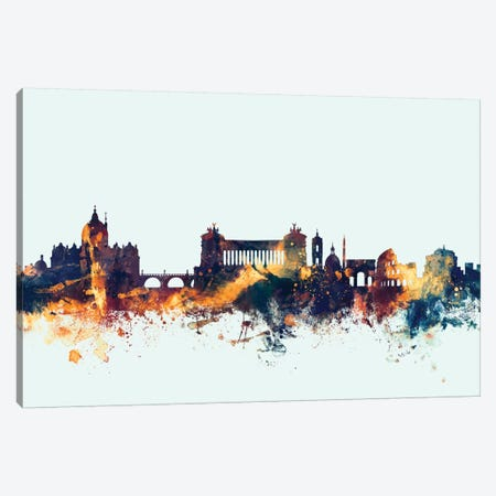 Rome, Italy On Blue Canvas Print #MTO405} by Michael Tompsett Canvas Art