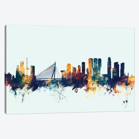 Rotterdam, The Netherlands On Blue Canvas Print #MTO407} by Michael Tompsett Canvas Artwork
