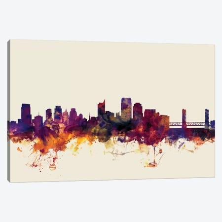 Sacramento, California, USA On Beige Canvas Print #MTO408} by Michael Tompsett Canvas Art Print
