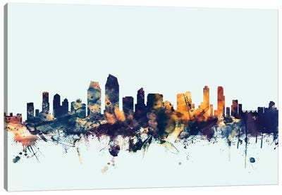 San Diego, California, USA On Blue Canvas Art Print