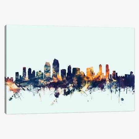 San Diego, California, USA On Blue Canvas Print #MTO411} by Michael Tompsett Canvas Artwork
