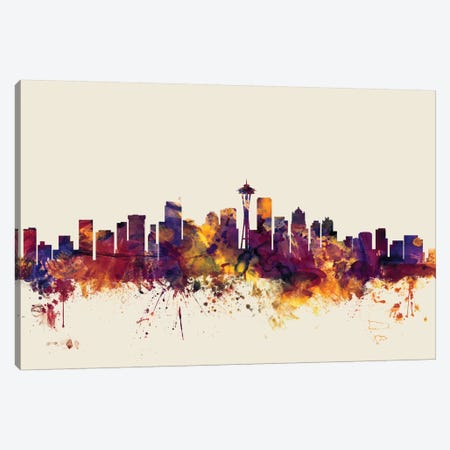 Seattle, Washington, USA On Beige Canvas Print #MTO414} by Michael Tompsett Canvas Art Print