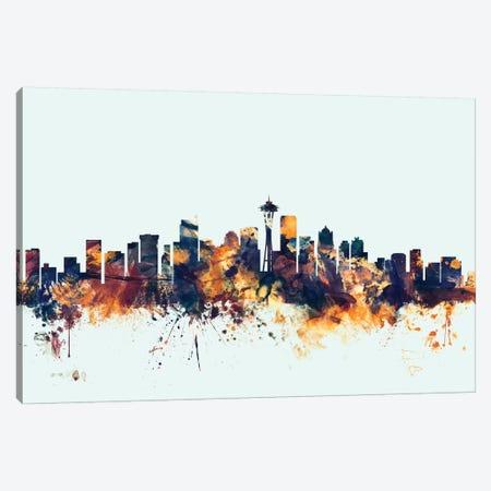 Seattle, Washington, USA On Blue Canvas Print #MTO415} by Michael Tompsett Canvas Art Print