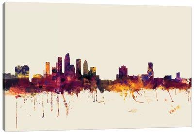 Skyline Series: Tampa, Florida, USA On Beige Canvas Print #MTO418