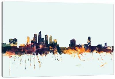 Skyline Series: Tampa, Florida, USA On Blue Canvas Print #MTO419