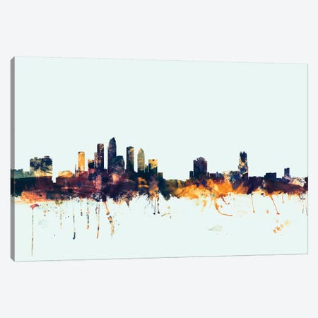 Tampa, Florida, USA On Blue Canvas Print #MTO419} by Michael Tompsett Canvas Art