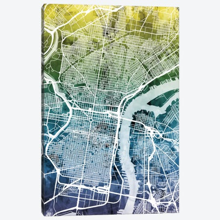 Philadelphia, Pennsylvania, USA Canvas Print #MTO41} by Michael Tompsett Canvas Print