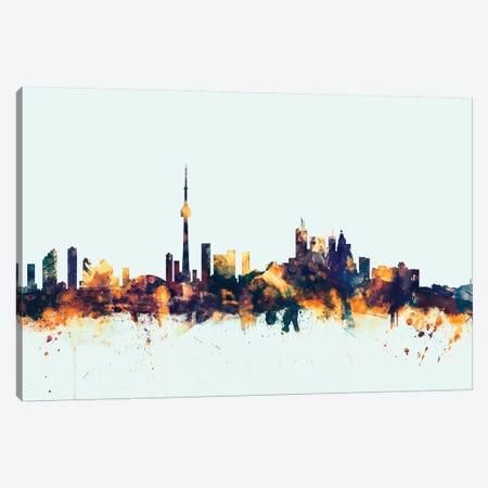 Toronto, Canada On Blue Canvas Print #MTO421} by Michael Tompsett Canvas Art Print