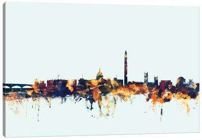 Skyline Series: Washington, D.C., USA On Blue Canvas Print #MTO426