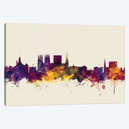 York, England, United Kingdom On Beige Canvas Print #MTO427} by Michael Tompsett Canvas Art