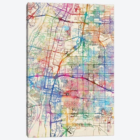 Albuquerque, New Mexico, USA Canvas Print #MTO429} by Michael Tompsett Canvas Print
