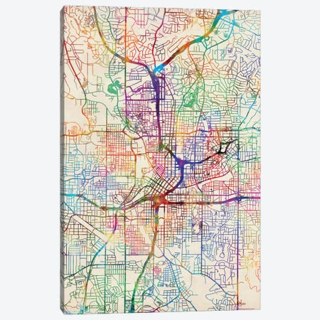Abstract City Map of Atlanta Art Print by Jazzberry Blue  iCanvas