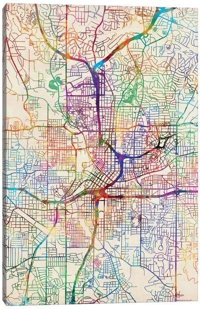 Urban Rainbow Street Map Series: Atlanta, Georgia, USA Canvas Print #MTO430