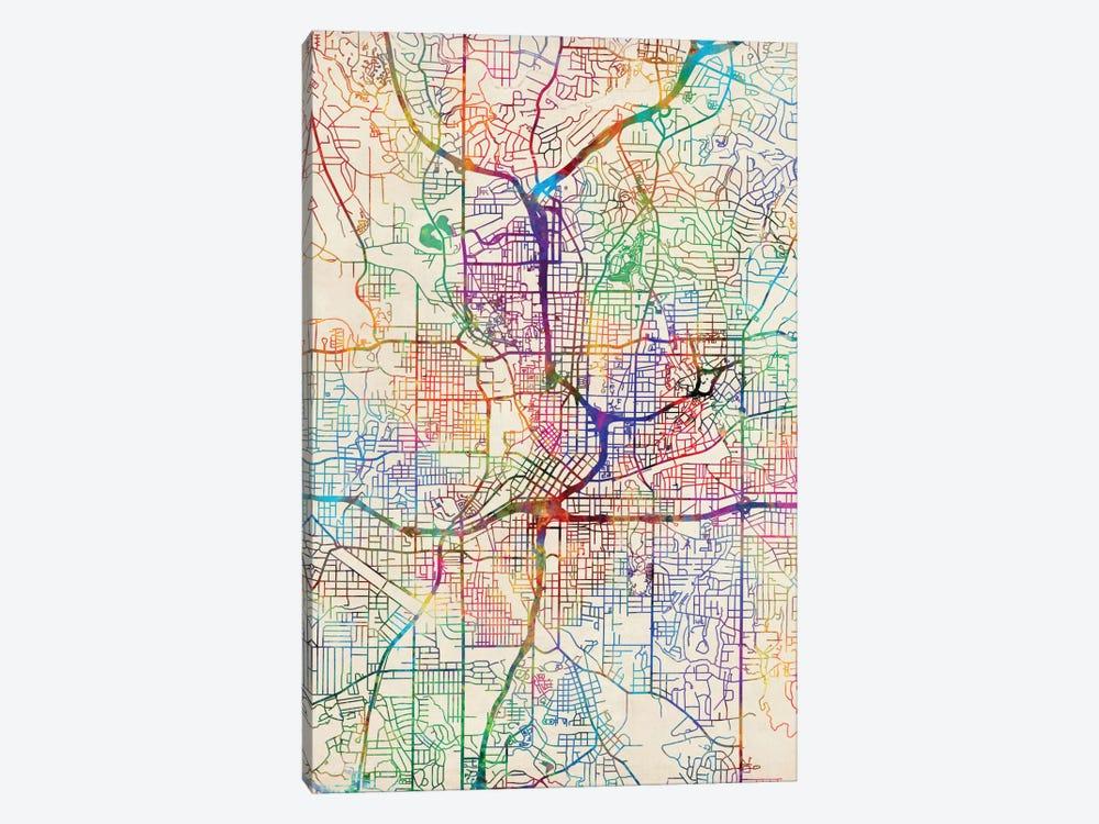 Atlanta Georgia On Map Of Usa.Atlanta Georgia Usa Canvas Print By Michael Tompsett Icanvas