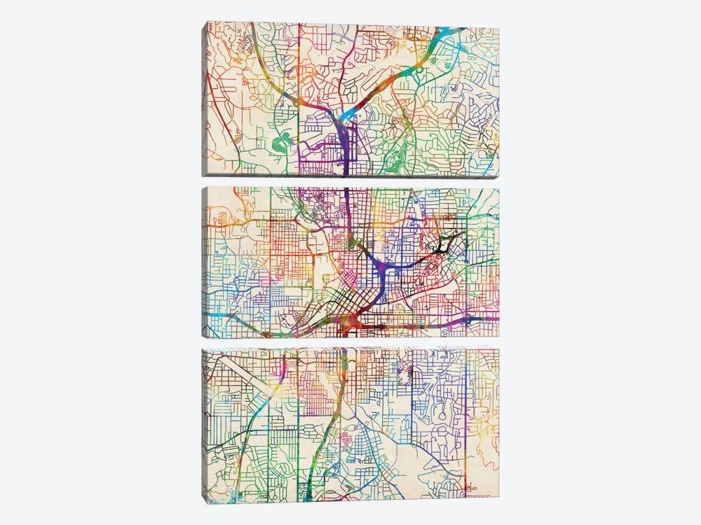 Atlanta, Georgia, USA by Michael Tompsett 3-piece Canvas Print