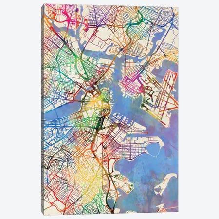 Boston, Massachusetts, USA 3-Piece Canvas #MTO431} by Michael Tompsett Canvas Art