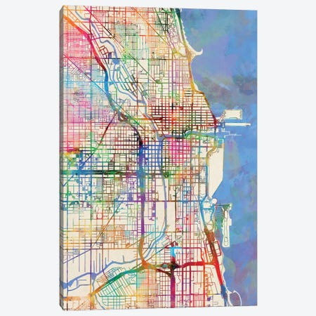 Chicago, Illinois, USA Canvas Print #MTO432} by Michael Tompsett Canvas Art