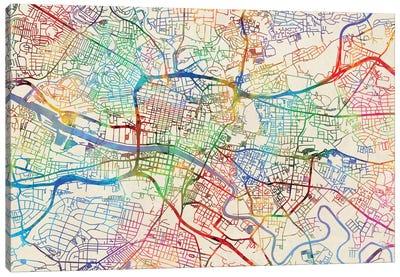 Urban Rainbow Street Map Series: Glasgow, Scotland, United Kingdom Canvas Print #MTO435