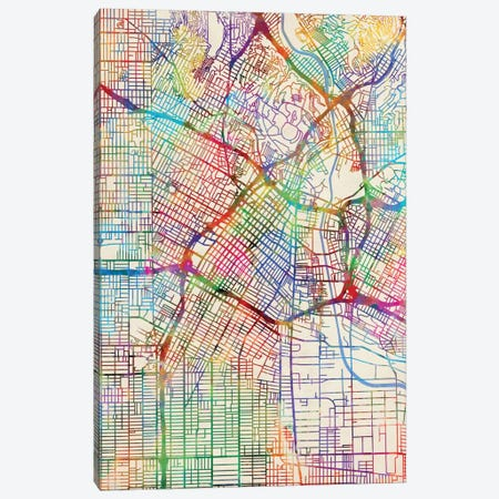 Los Angeles, California, USA Canvas Print #MTO440} by Michael Tompsett Canvas Art Print