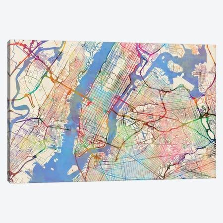New York City, New York, USA Canvas Print #MTO443} by Michael Tompsett Canvas Print