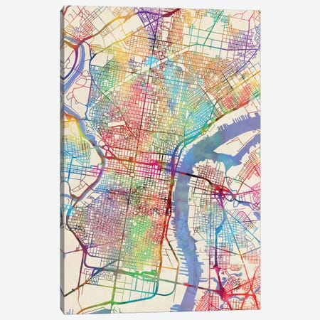 Philadelphia, Pennsylvania, USA Canvas Print #MTO445} by Michael Tompsett Canvas Wall Art
